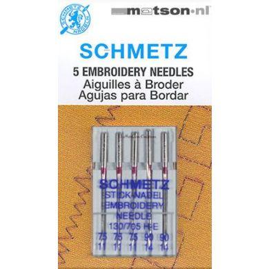 Schmetz borduurnaalden 75-90, 5 st