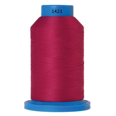 Amann Mettler Seraflock lockgaren 1000m donker roze kleur 1421