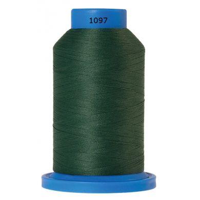 Amann Mettler Seraflock lockgaren 1000m donkergroen kleur 1097