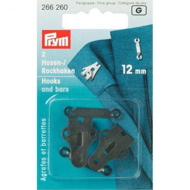 Broek en rokhaken 12 mm zwart, 2 stuks Prym