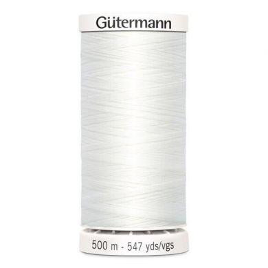 Gütermann Naaigaren 500 m, kleur 800 wit
