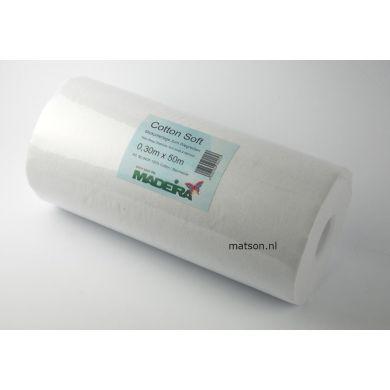 Madeira Cottonsoft wit 30 cm, rol 50 meter
