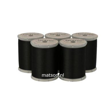 5x spoelgaren/ ondergaren Brother zwart XC5520
