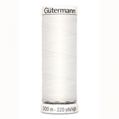 Gütermann Naaigaren 200 m, kleur 800 wit