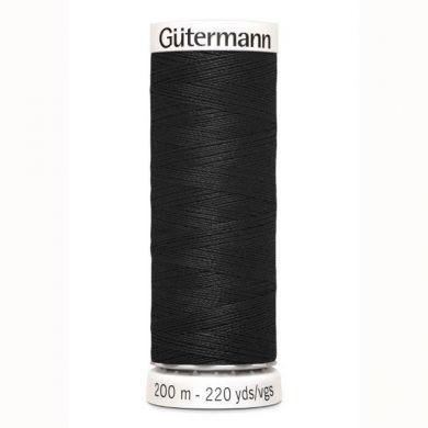 Gütermann Naaigaren 200 m, kleur 000 zwart