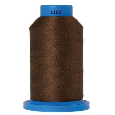 Amann Mettler Seraflock lockgaren 1000m bruin kleur 1182