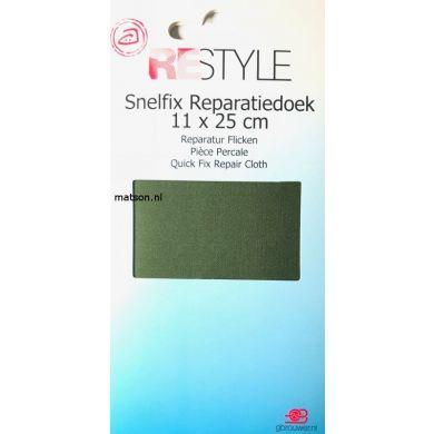 reparatiedoek mosgroen opstrijkbaar 11x36cm