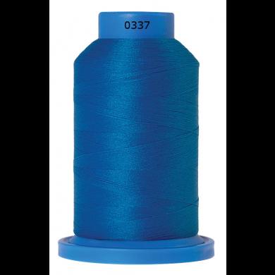 Amann Mettler Seraflock lockgaren 1000m blauw kleur 0337