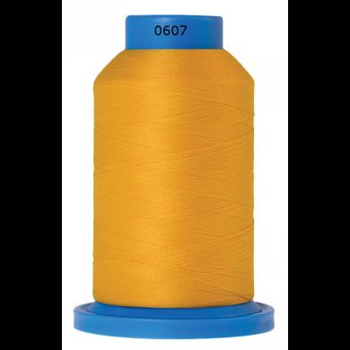 Amann Mettler Seraflock lockgaren 1000m geel kleur 0607
