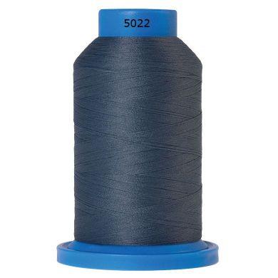 Amann Mettler Seraflock lockgaren 1000m grijsblauw kleur 5022