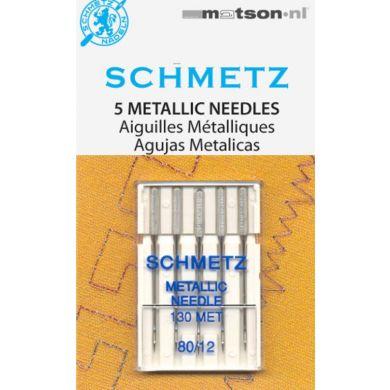 Schmetz naalden metallic 80, 5 st