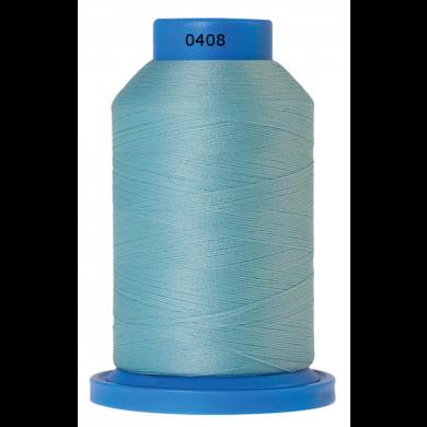 Amann Mettler Seraflock lockgaren 1000m blauwgroen kleur 0408