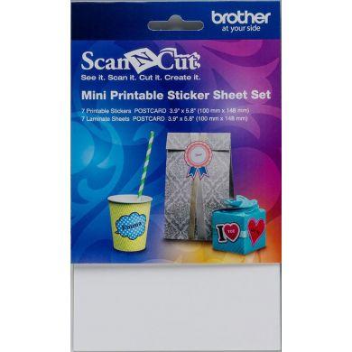 Scan N Cut Set voor Mini  Printerbare Stickers