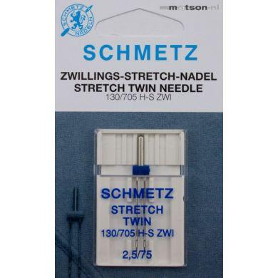Schmetz naald tweeling stretch 2,5/75