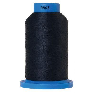 Amann Mettler Seraflock lockgaren 1000m donkerblauw kleur 0805