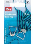 Bikinisluiting 15 mm zilver
