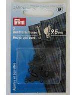 Broek en rokhaken 9,5 mm zwart, 3 stuks Prym