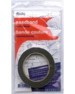 Vlieseline Naadband Zwart, 10mm x 12,5m